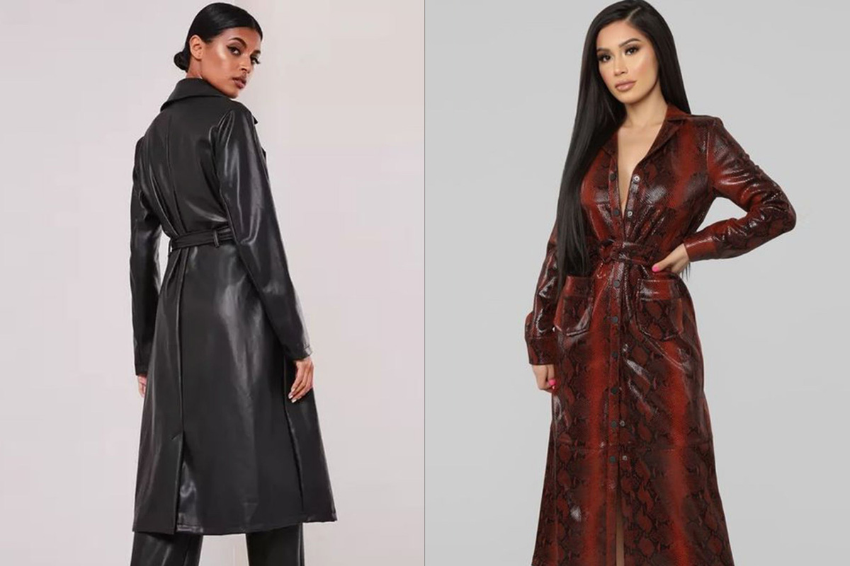 Maxi Faux Leather Coats