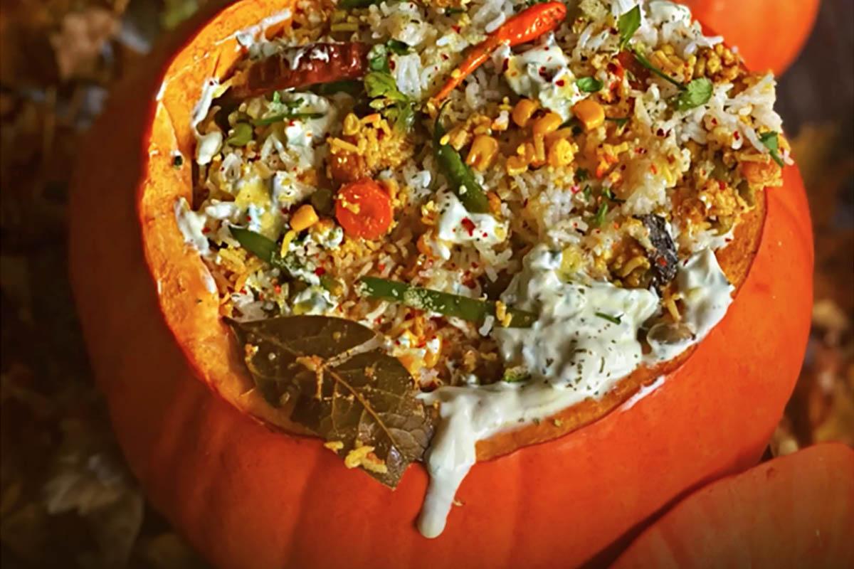Recipe Of The Week | Pumpkin Biryani | KavsKitchen2020