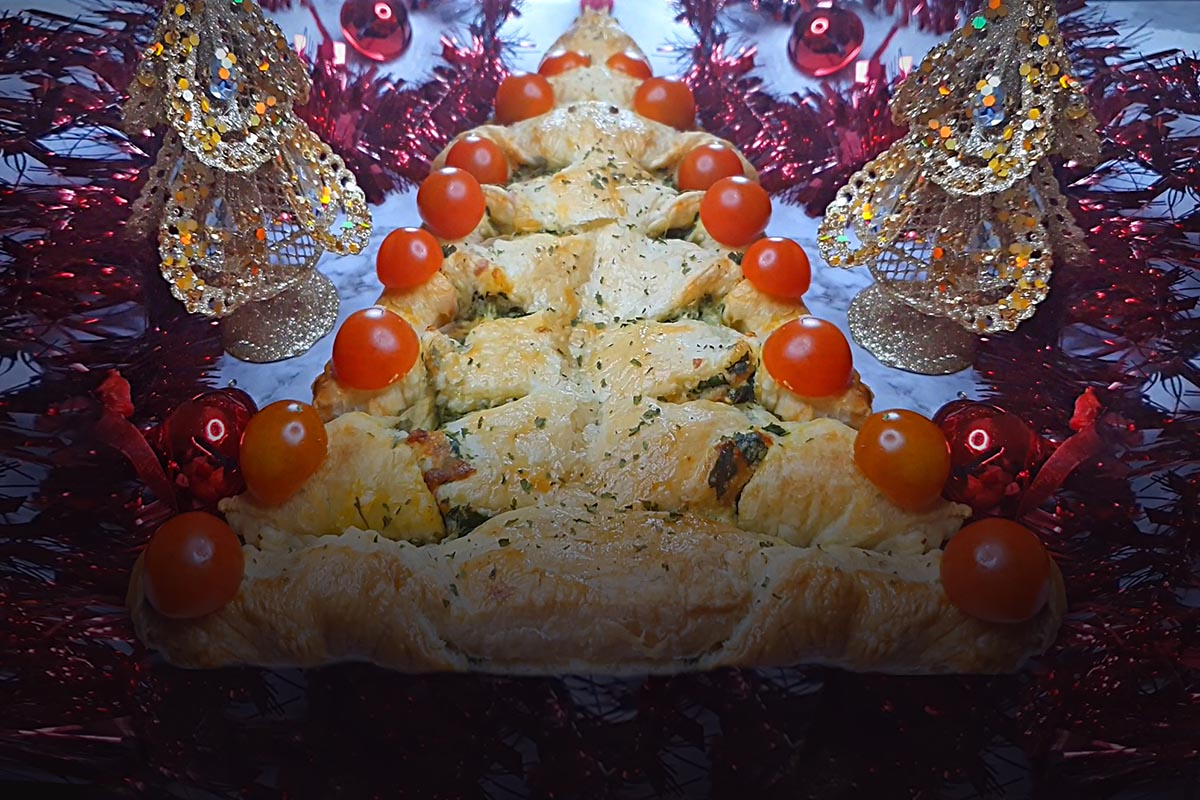 Recipe Of The Week | Spinach, Mozzarella & Cheddar Cheese Christmas Tree | Acookingexperiment