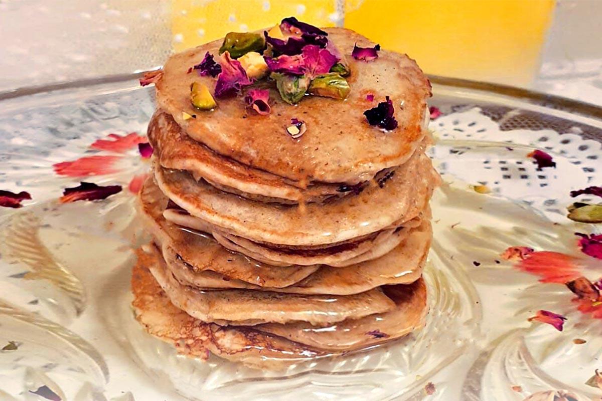 Weekend Treats | Vegan Gulab Jamun Pancakes | Pamvsfood