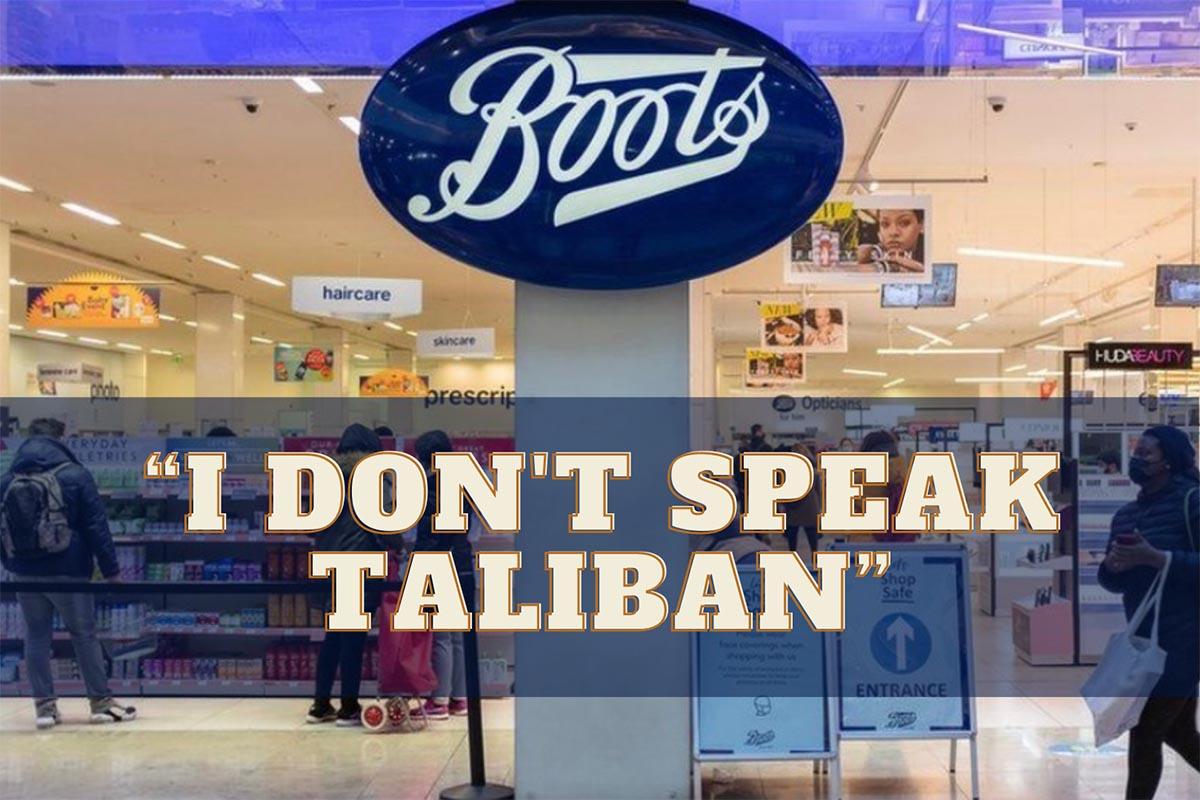 """""""I don't speak Taliban"""""""